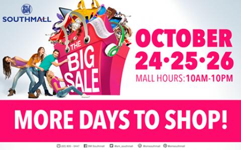 SM Southmall Big Sale October 2014