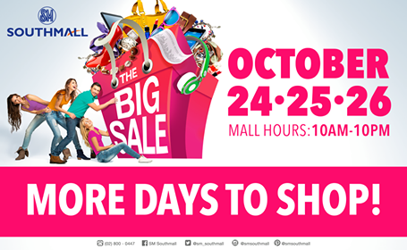 SM Southmall Big Sale October 2014