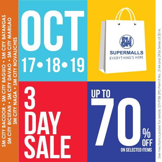 SM Supermalls 3-Day Sale October 2014