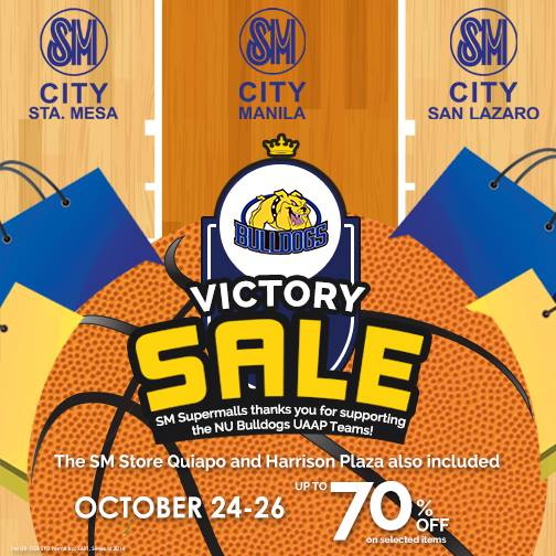 SM Supermalls (Sta. Mesa, Manila, San Lazaro, Harrison Plaza, The SM Store Quiapo) Victory Sale @ October 2014