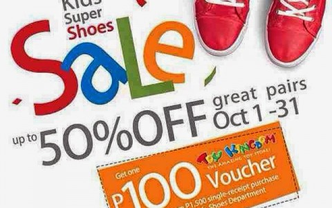SM kids shoe sale oct 2014
