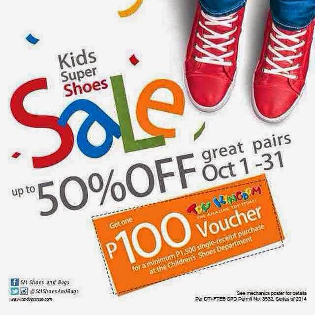 SM kids shoe sale oct 2014