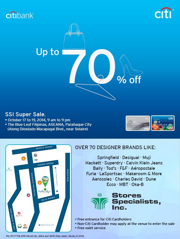 Citibank SSI Super Sale @ The Blue Leaf Filipinas October 2014