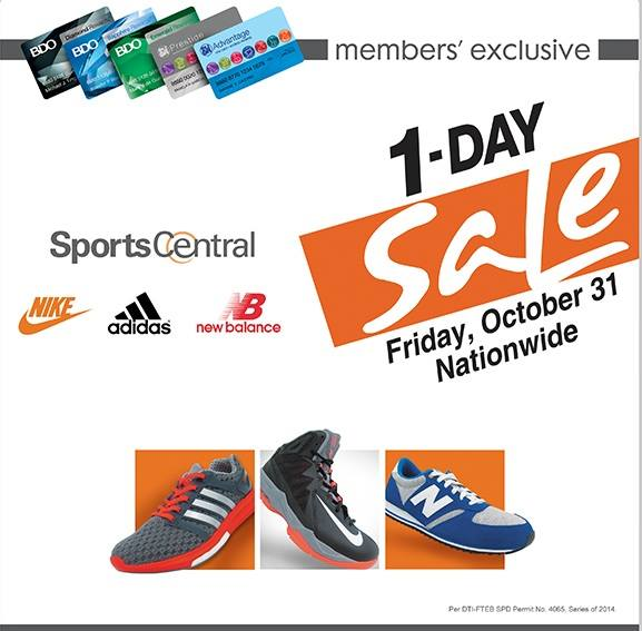 Sports Central One-Day Sale October 2014
