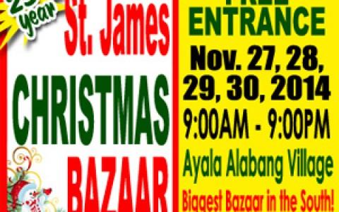 St. James Christmas Bazaar @ Ayala Alabang Village November 2014