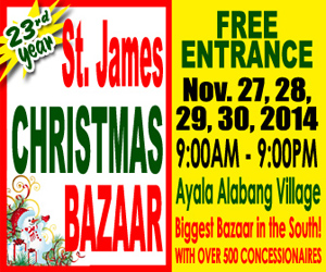 St. James Christmas Bazaar @ Ayala Alabang Village November 2014