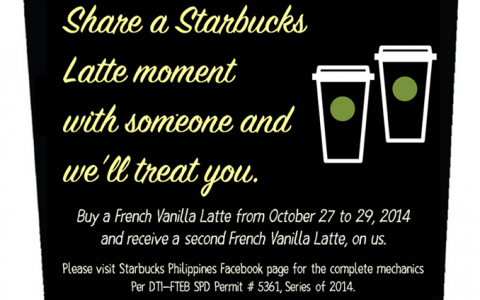 Starbucks Share A Latte Moment Promo October 2014