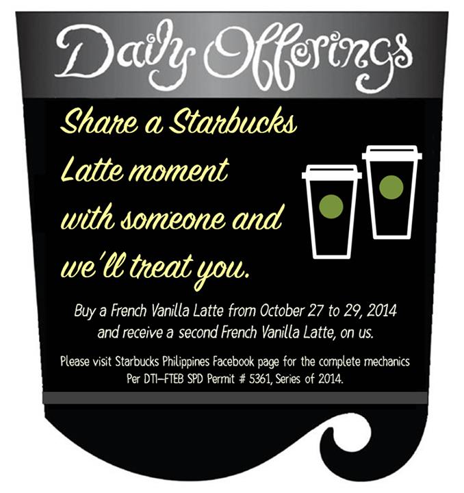 Starbucks Share A Latte Moment Promo October 2014