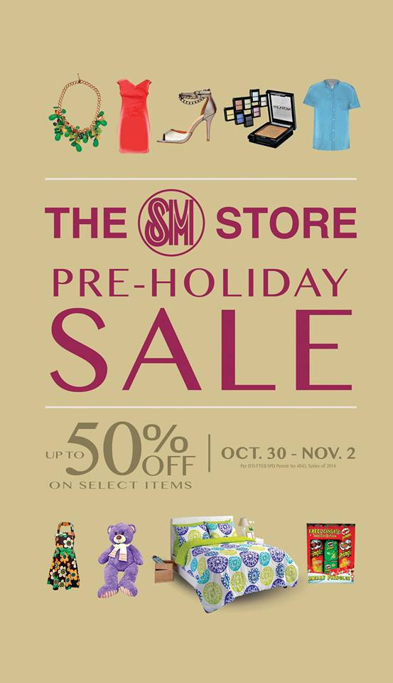 The SM Store Pre-Holiday Sale October - November 2014