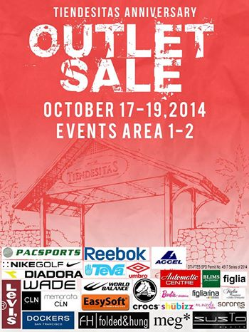 Tiendesitas Anniversary Outlet Sale October 2014