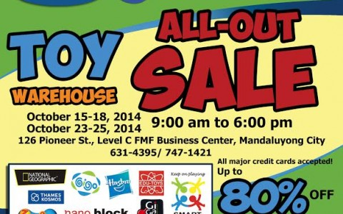 Toy Warehouse All-Out Sale October 2014