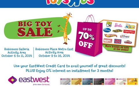 Toys R Us Big Toy Sale @ Robinsons Galleria October 2014