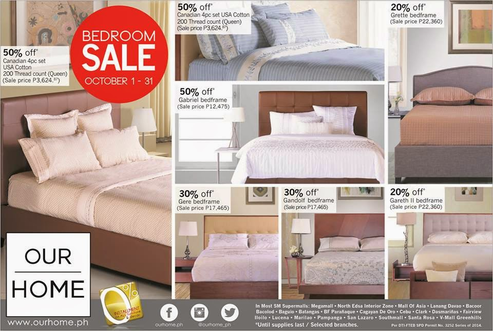 Our Home Bedroom Sale 2014 Manila On Sale
