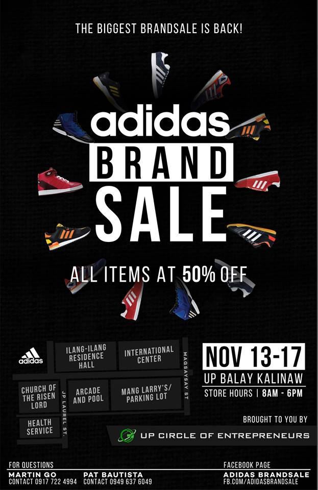 Adidas Brand Sale @ UP Balay Kalinaw November 2014