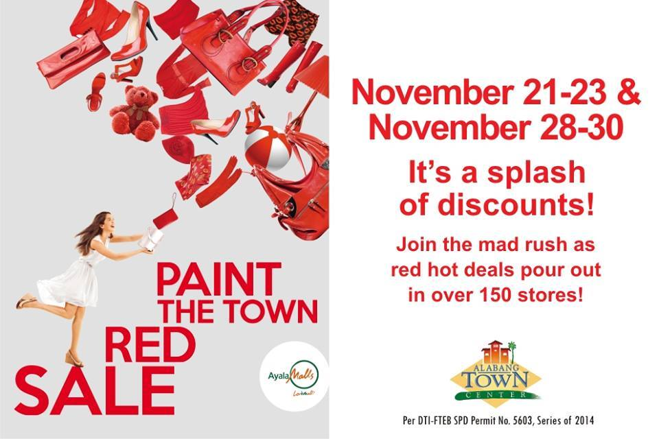 Alabang Town Center Paint The Town Red Sale November 2014