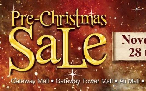Araneta Center Pre-Christmas Sale November 2014 - banner