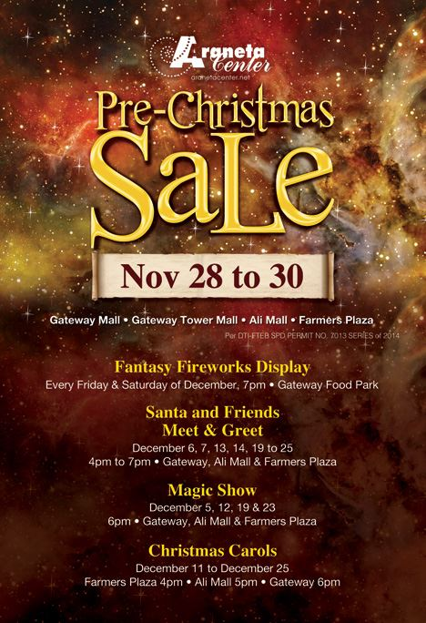 Araneta Center Pre-Christmas Sale November 2014