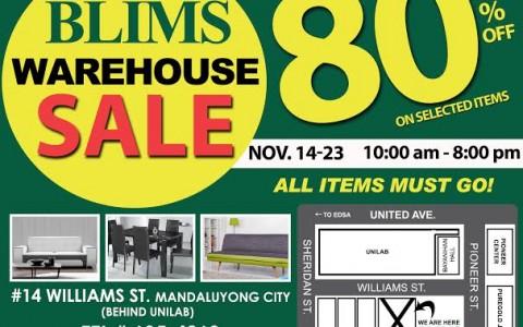 BLIMS Warehouse Sale November 2014