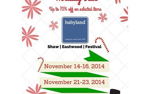 Babyland Triple Weekend Holiday Sale November 2014