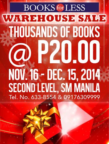 Books For Less Warehouse Sale @ SM Manila November 2014