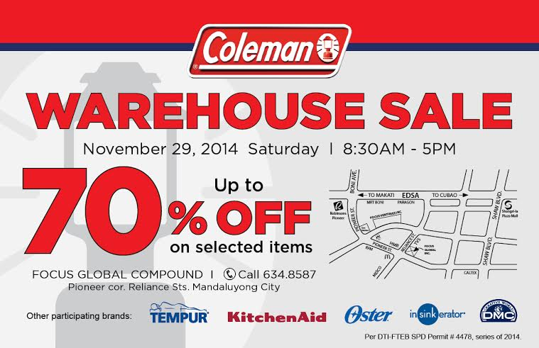 Coleman Warehouse Sale @ Focus Global Compound November 2014