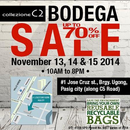 Collezione Bodega Sale November 2014