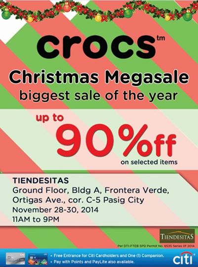 Crocs Christmas Megasale @ Tiendesitas November 2014