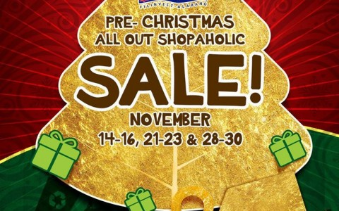 Festival Supermall Pre-Christmas All Out Shopaholic Sale November 2014
