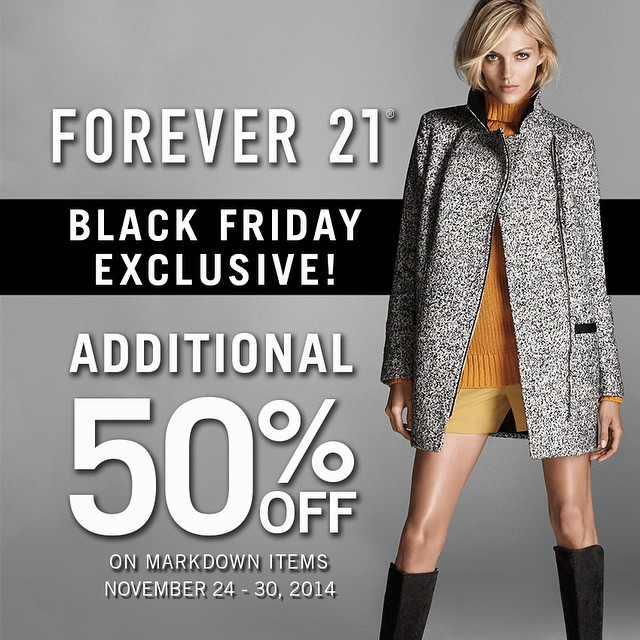 Forever 21 Black Friday Sale November 2014