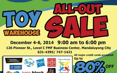 GST & Color Mix Corporation's Toy Warehouse All-Out Sale December 2014