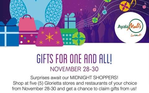Glorietta Midnight Madness Sale November 2014