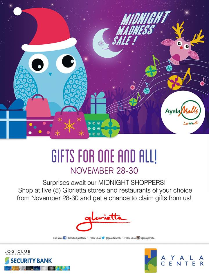 Glorietta Midnight Madness Sale November 2014