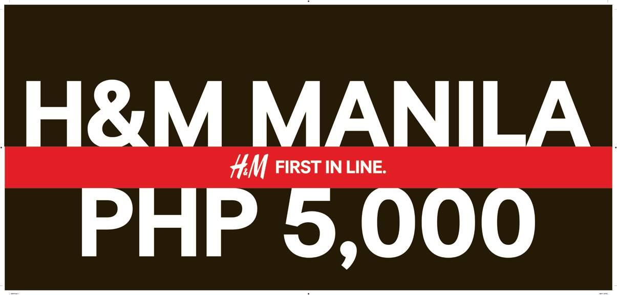 H&M Philippines Opening Day Offer @ Robinsons Magnolia November 2014