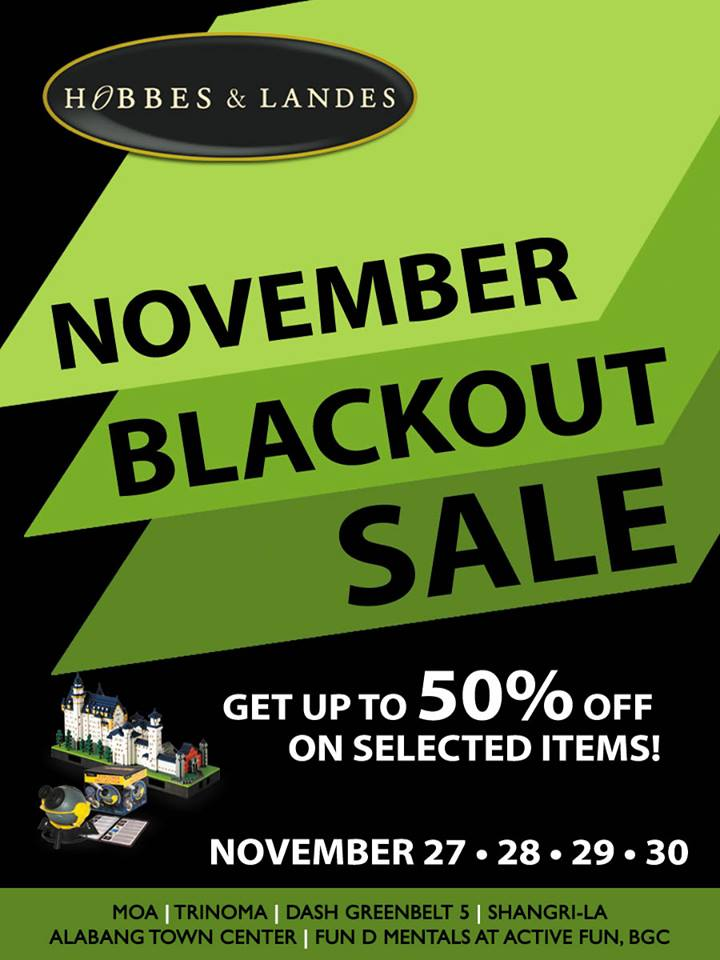 Hobbes & Landes November Blackout Sale November 2014