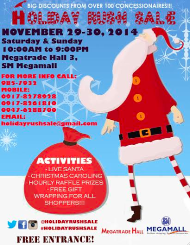 Holiday Rush Sale @ SM Megatrade Hall November 2014