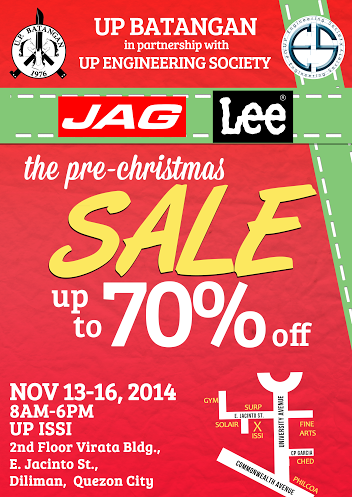 Jag and Lee Pre-Christmas Sale November 2014