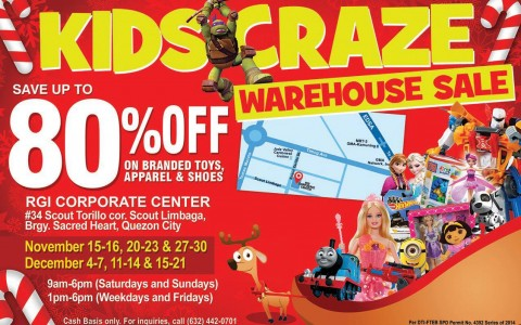 Kids Craze Warehouse Sale @ RGI Corporate Center November - December 2014
