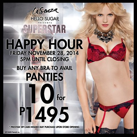 La Senza Happy Hour November 2014