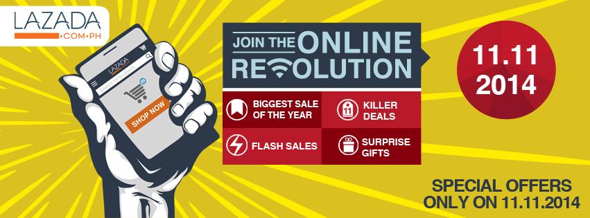 Lazada Online Revolution Sale November - December 2014