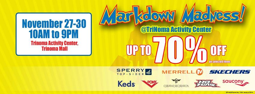 Markdown Madness @ Trinoma Activity Center November 2014 - banner