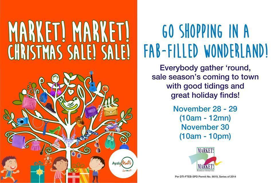 Market Market Christmas Sale November 2014