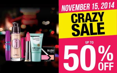 Maybelline Crazy Sale November 2014