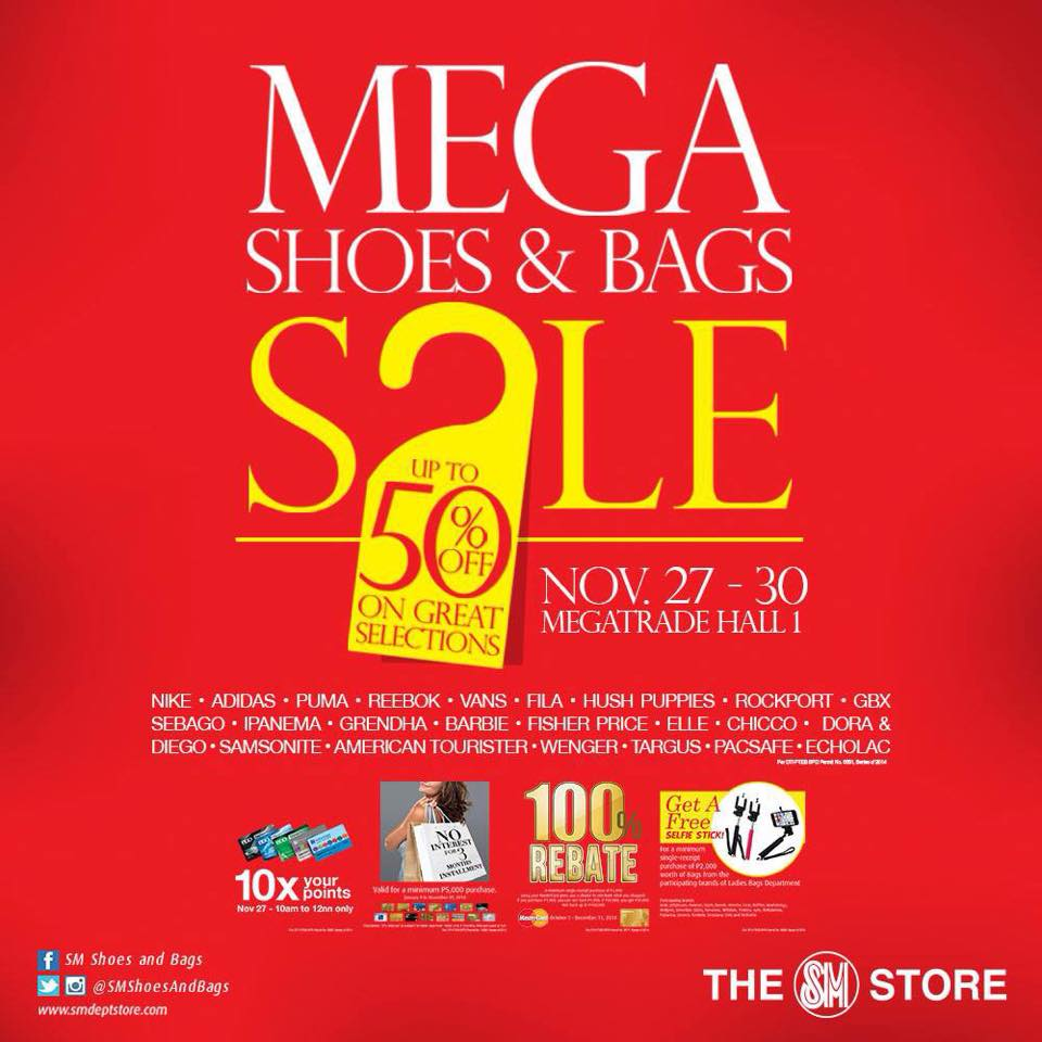 Mega Shoes & Bags Sale @ SM Megatrade Hall November 2014
