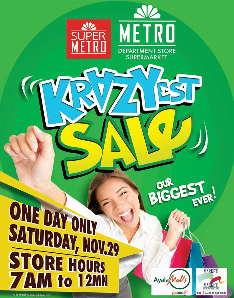 Metro Department Store and Metro Supermarket Krazyest Sale November 2014