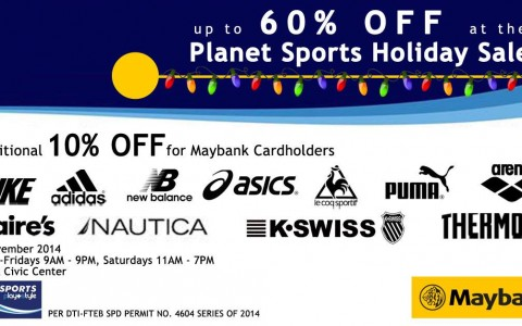 Planet Sports Holiday Sale @ Maybank Civic Center November 2014