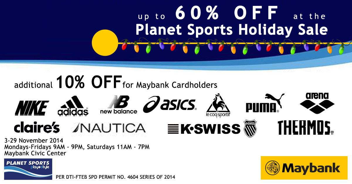 4d80ff640385 Planet Sports Holiday Sale   Maybank Civic Center November 2014