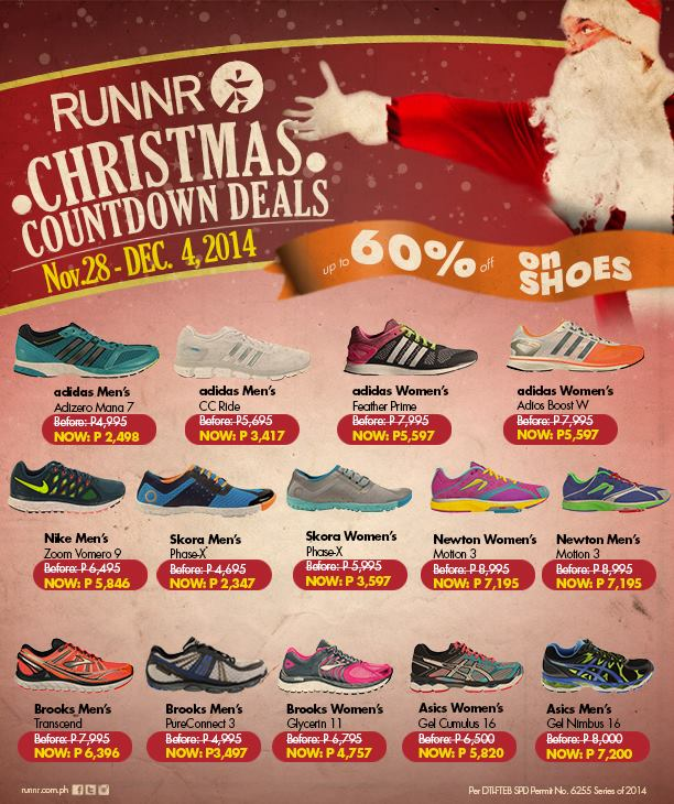 Runnr Christmas Countdown Deals November - December 2014