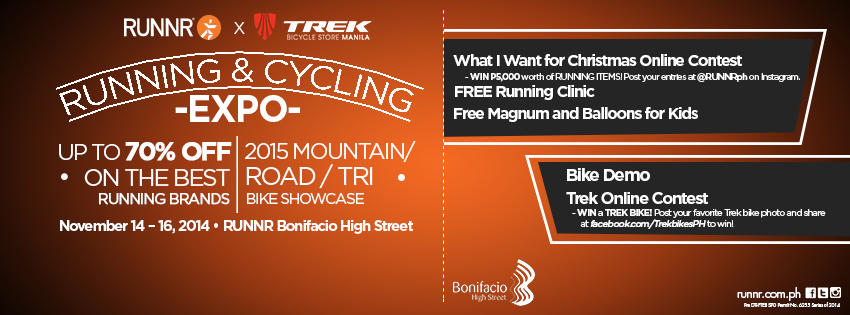 Runnr x Trek Running and Cycling Expo @ Runnr BGC November 2014