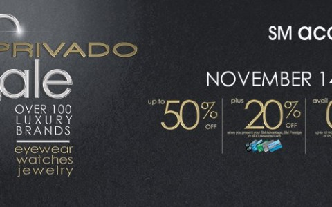 SM Accessories Privado Sale November 2014
