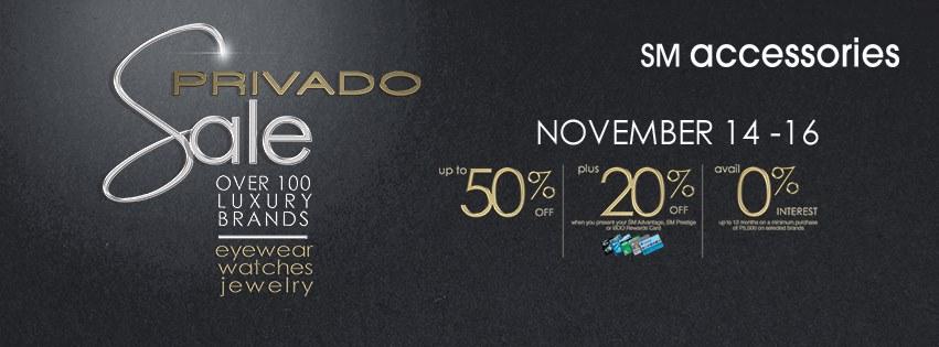 SM Accessories Privado Sale November 2014